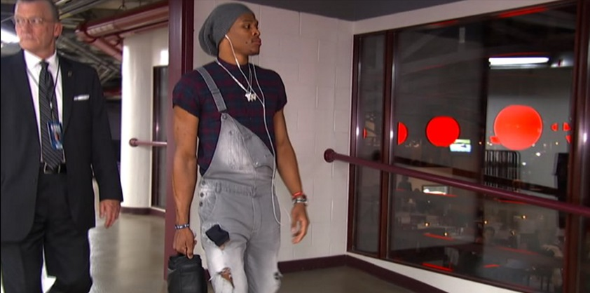 Russell-Westbrook-outfit-Pre-Ripped-Overalls