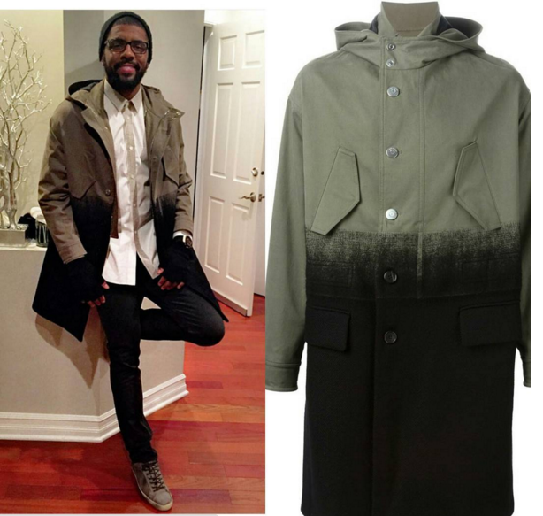 STYLE: Kyrie Irving's Instagram Neil Barrett Dégradé Brushed-Cotton And Wool-Twill Parka.