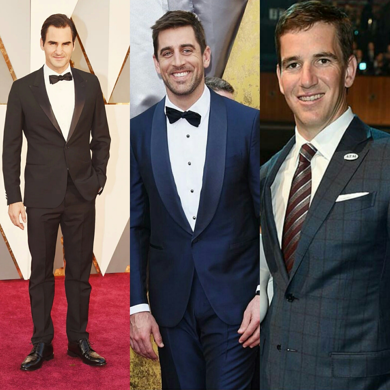 STYLE: Rodger Federer, Aaron Rodgers, Eli Manning Attend Oscars 2016