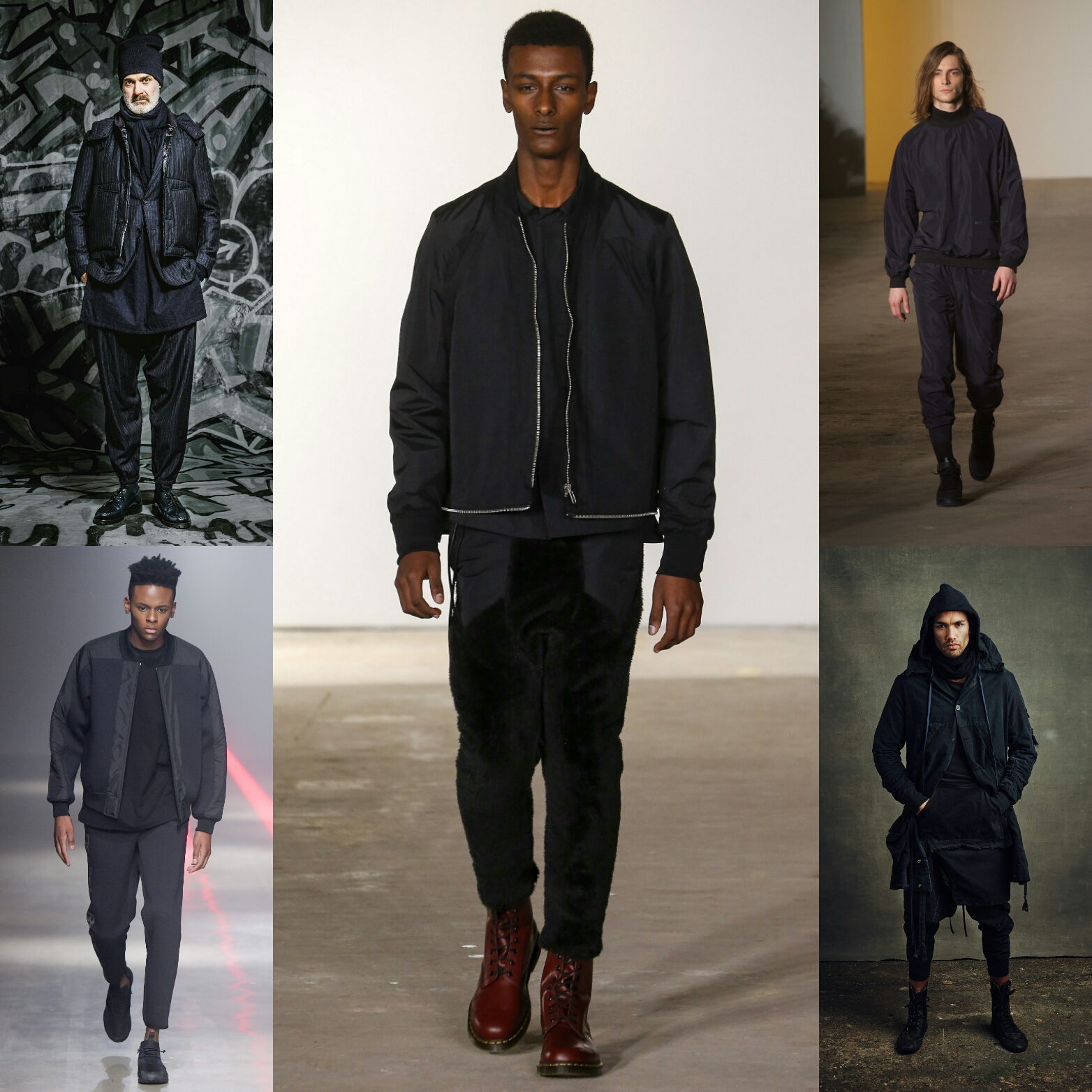 5 Dark Athleisure Fall'16 Collections At New York Fashion Week: Men's