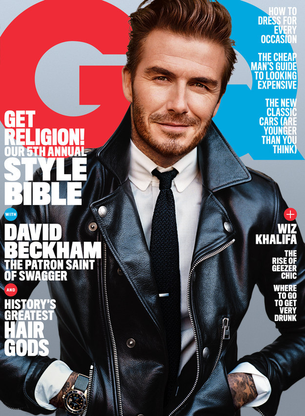 ae0ccd4ced David Beckham Covers American GQ Magazine For First Time Ever ...