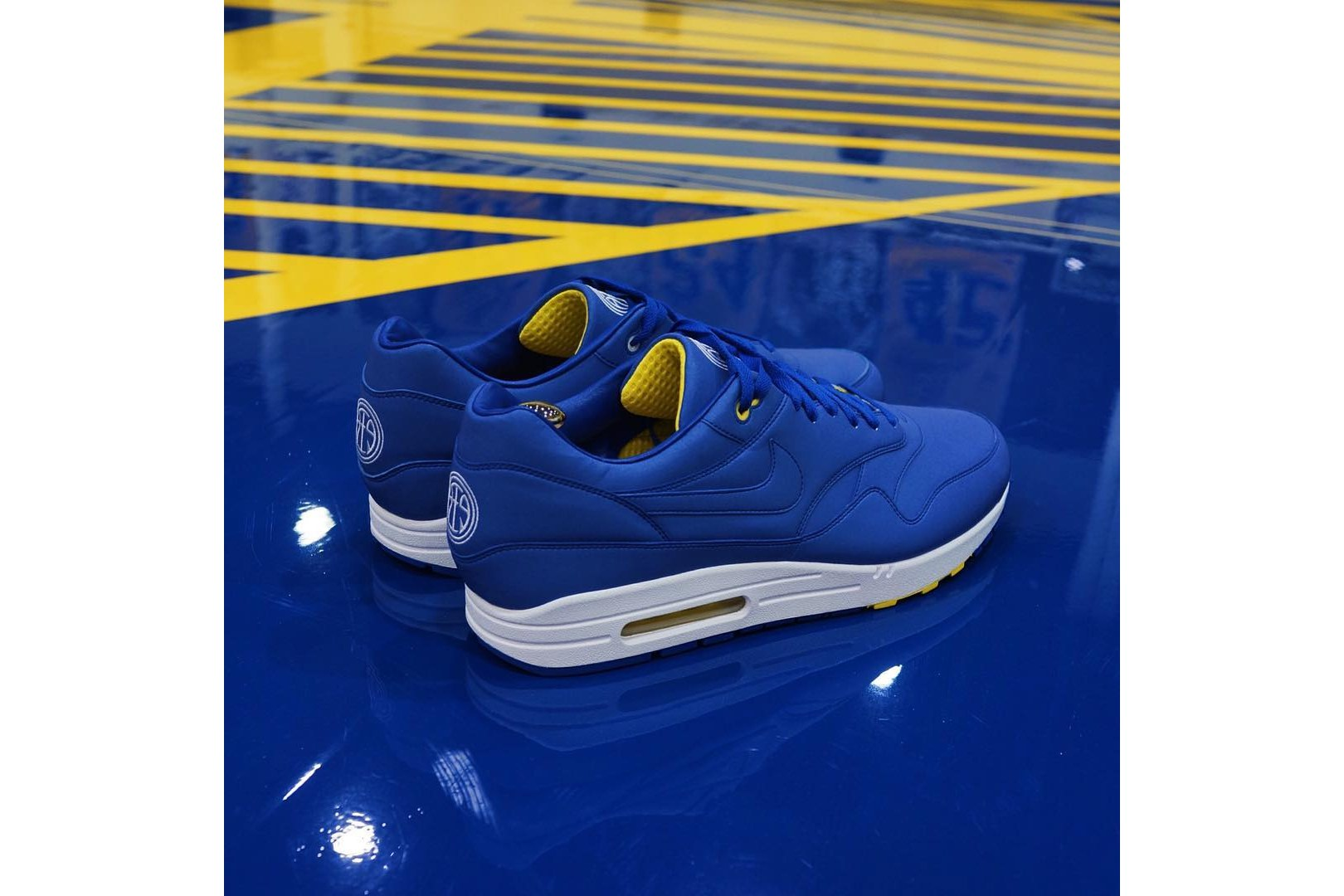 STYLE: Andre Iguodala Designs A Golden State Warriors-Inspired Nike Air Max 1 Sneaker