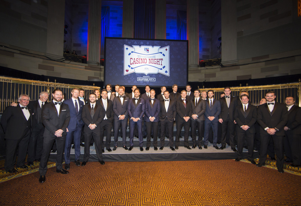 New York Rangers Clean Up Nicely For Formal Casino Night Fundraiser