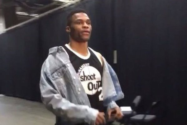 STYLE: Russell Westbrook's FEAR OF GOD Denim Jacket, And Above The Rim Jersey