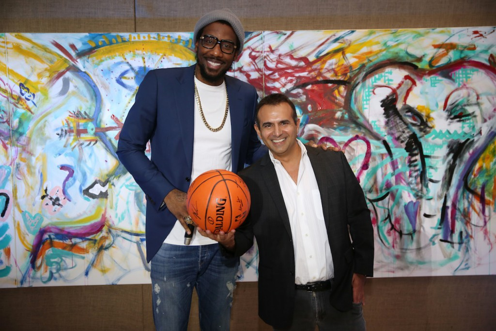 """Amar'e Stoudemire And Artist Daniel Arsham host Miami """"In The Paint Series"""" event with Whitewall Magazine"""