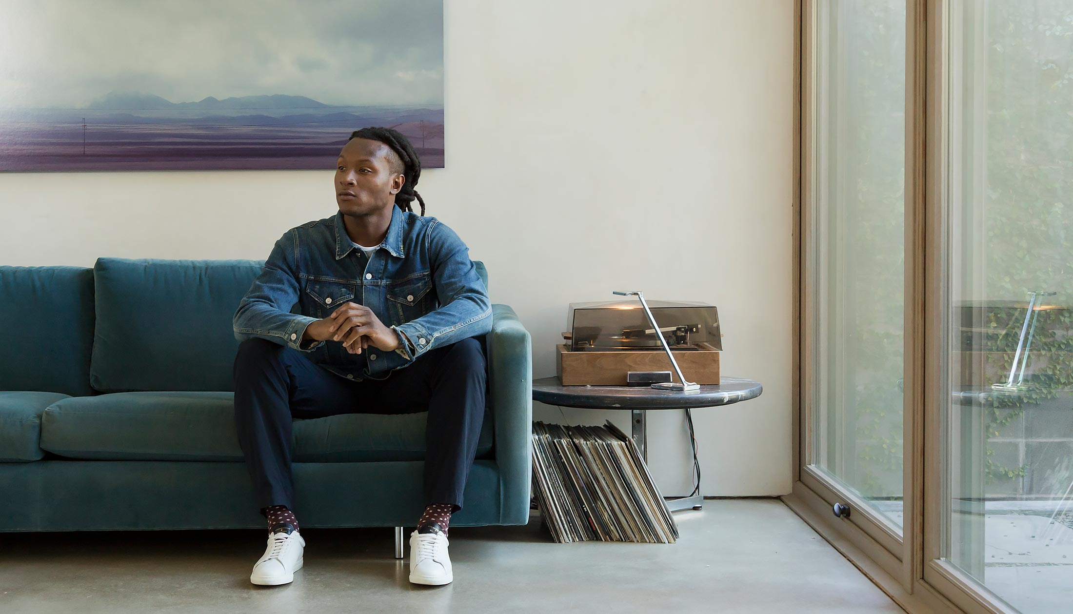 NFL Deandre Hopkins Models Club Monaco's 'Bennett' Chinos