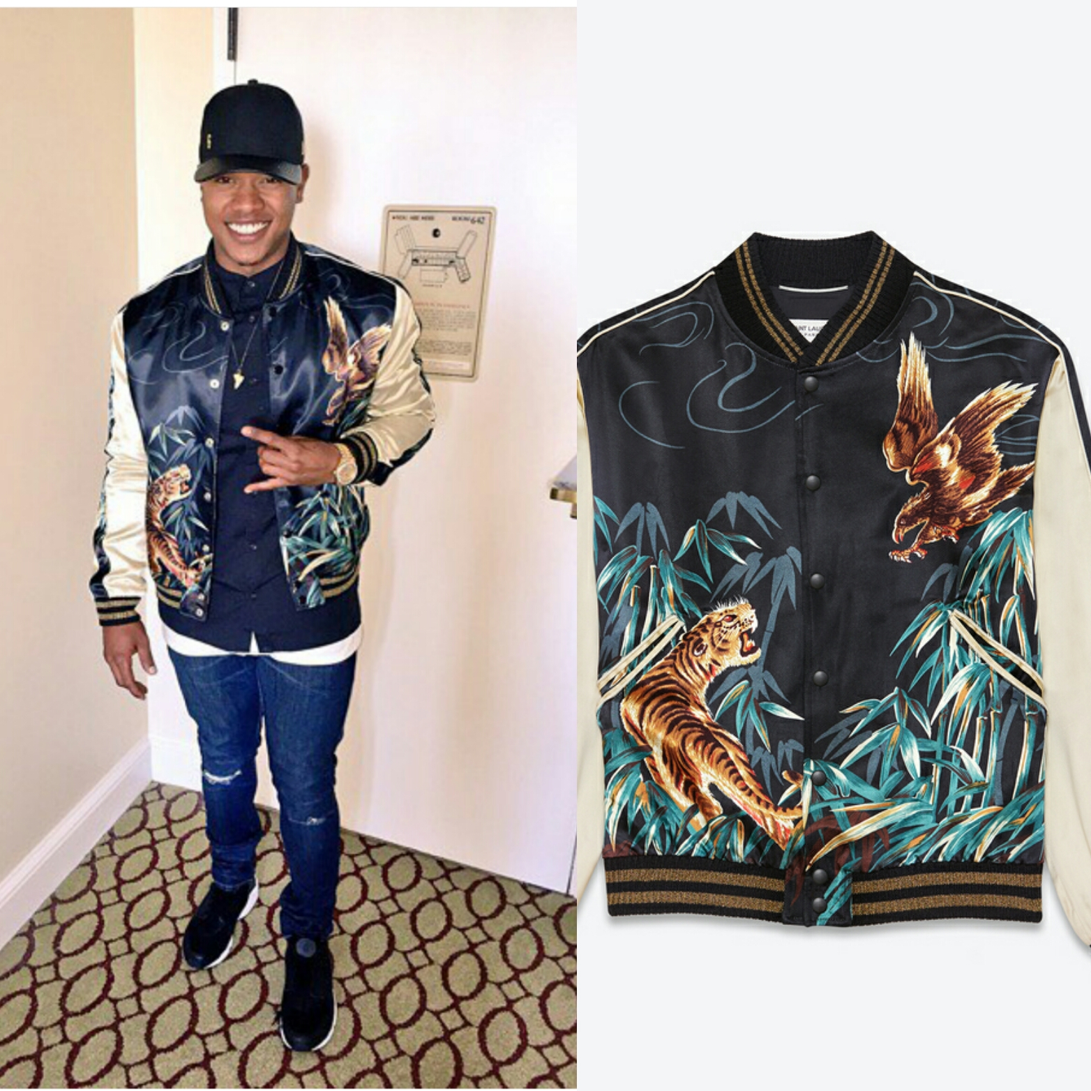 STYLE: MLB Marcus Stroman's Instagram Saint Laurent TEDDY Jacket