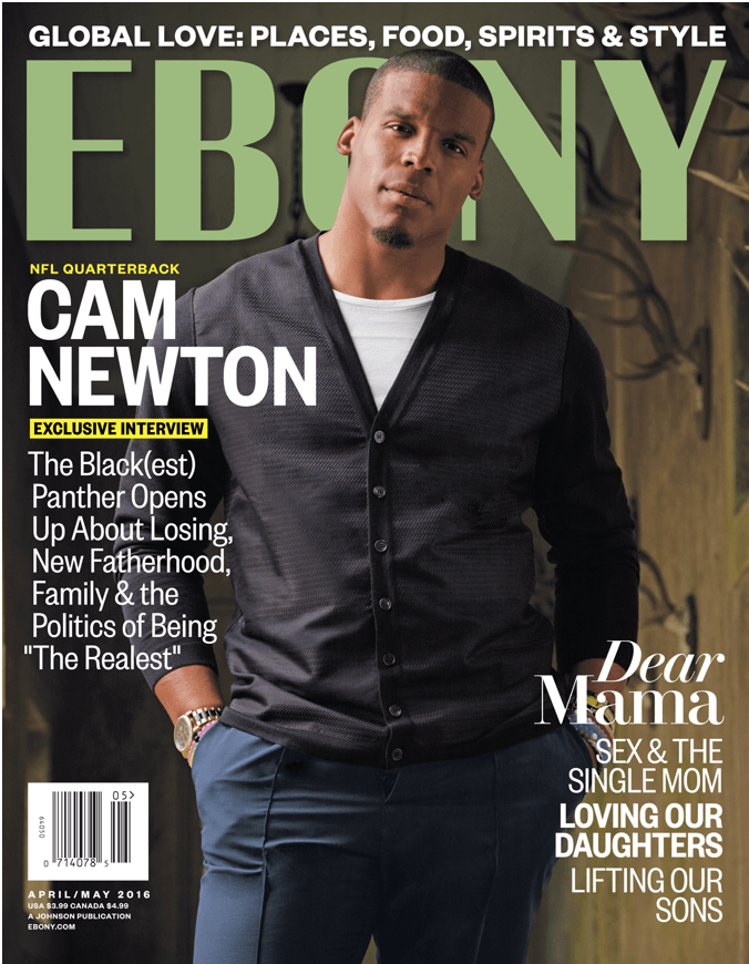 STYLE: NFL Star Cam Newton Covers Ebony Magazine