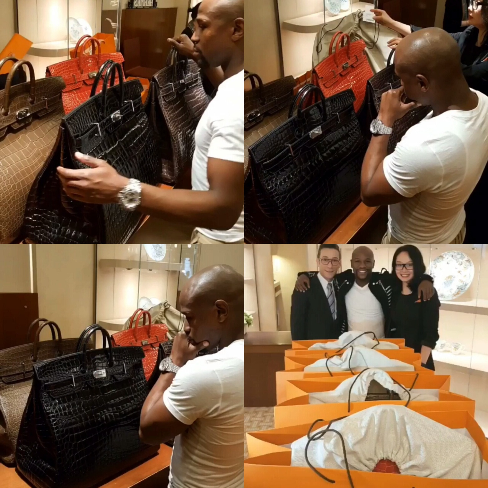 STYLE: Floyd Mayweather Spends $400,000 On Hermes Bags In Paris