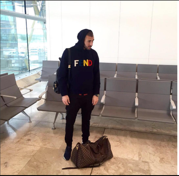 STYLE: Footballer Karim Benzema's Instagram FENDI Logo Hoodie