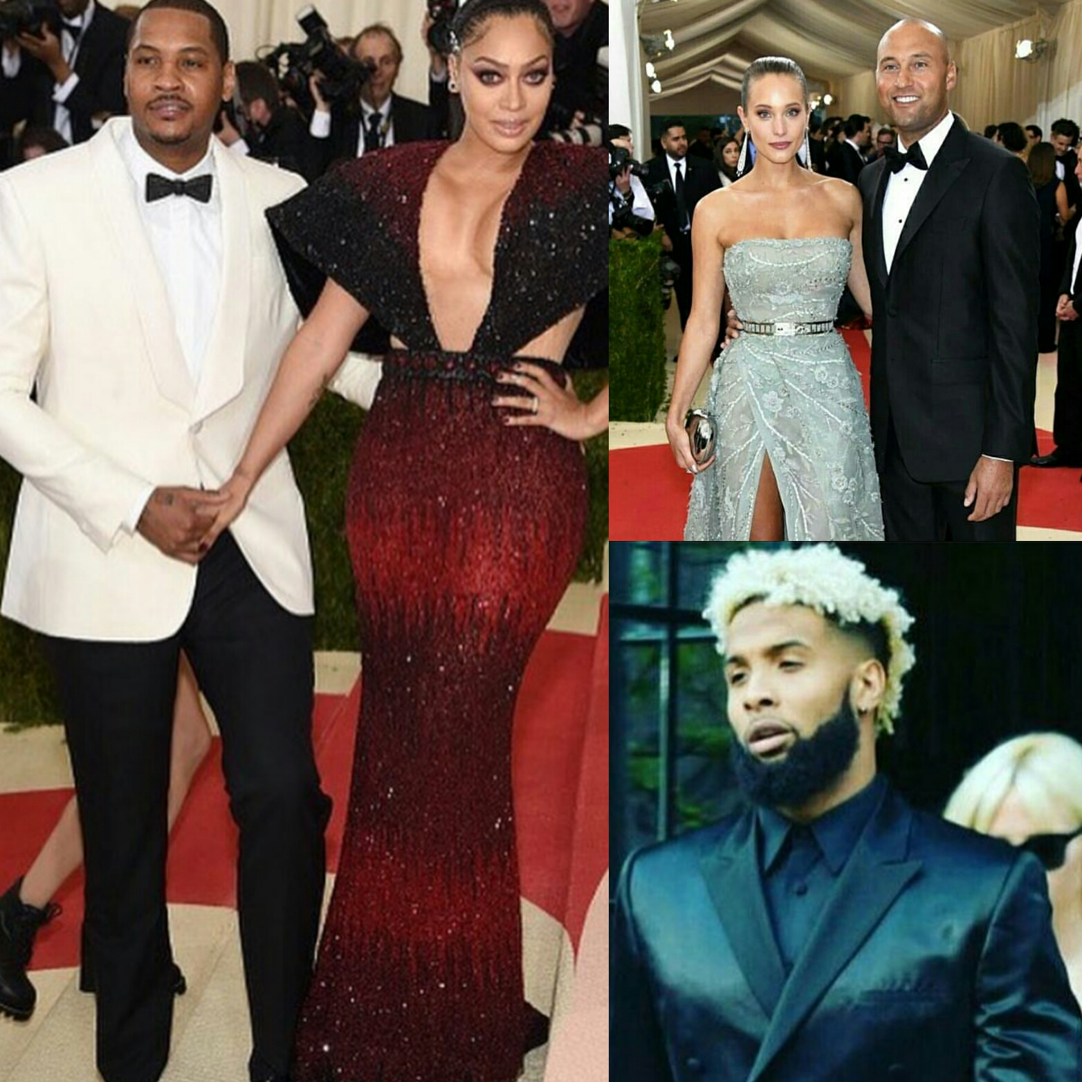 2016 Met Gala STYLE: Athletes Carmelo Anthony, Odell Beckham Jr, And Derek Jeter.