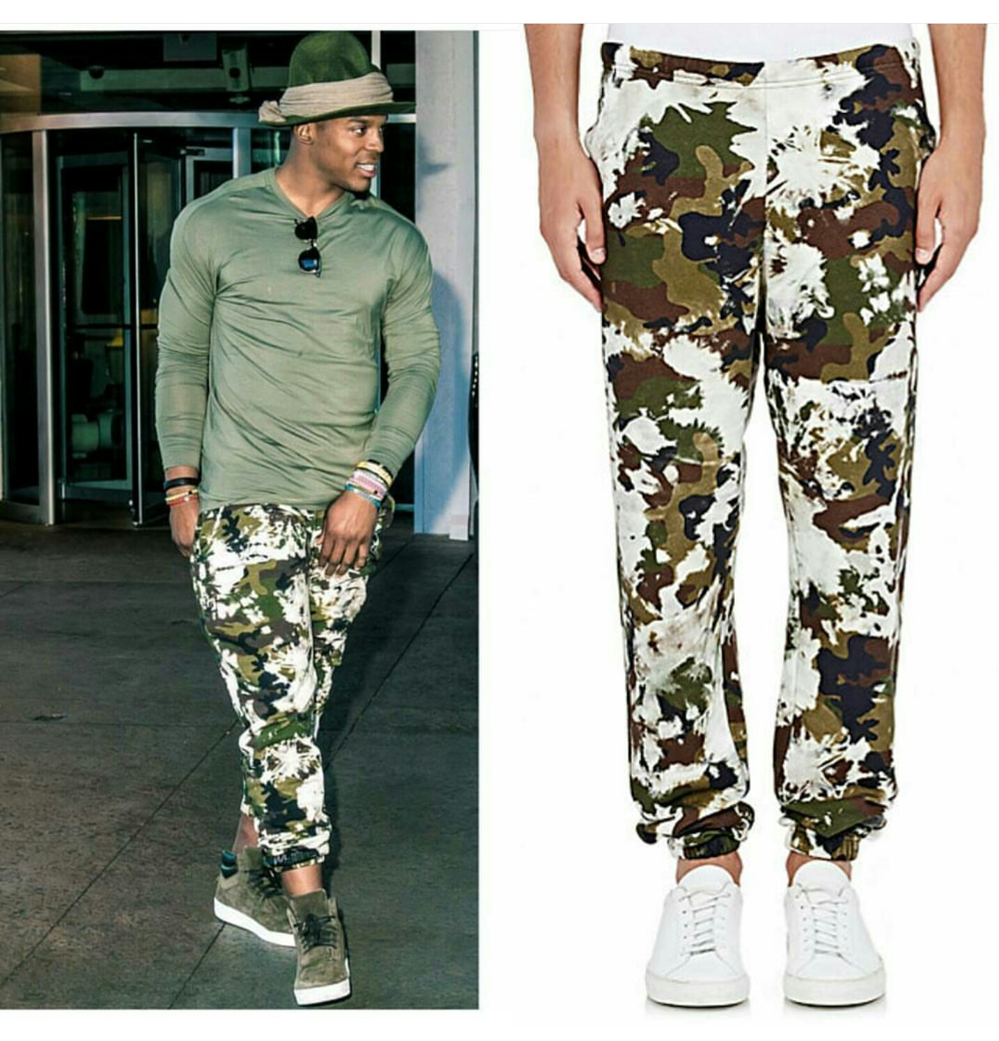 STYLE: Cam Newton's Instagram Off White Camouflage Sweatpants