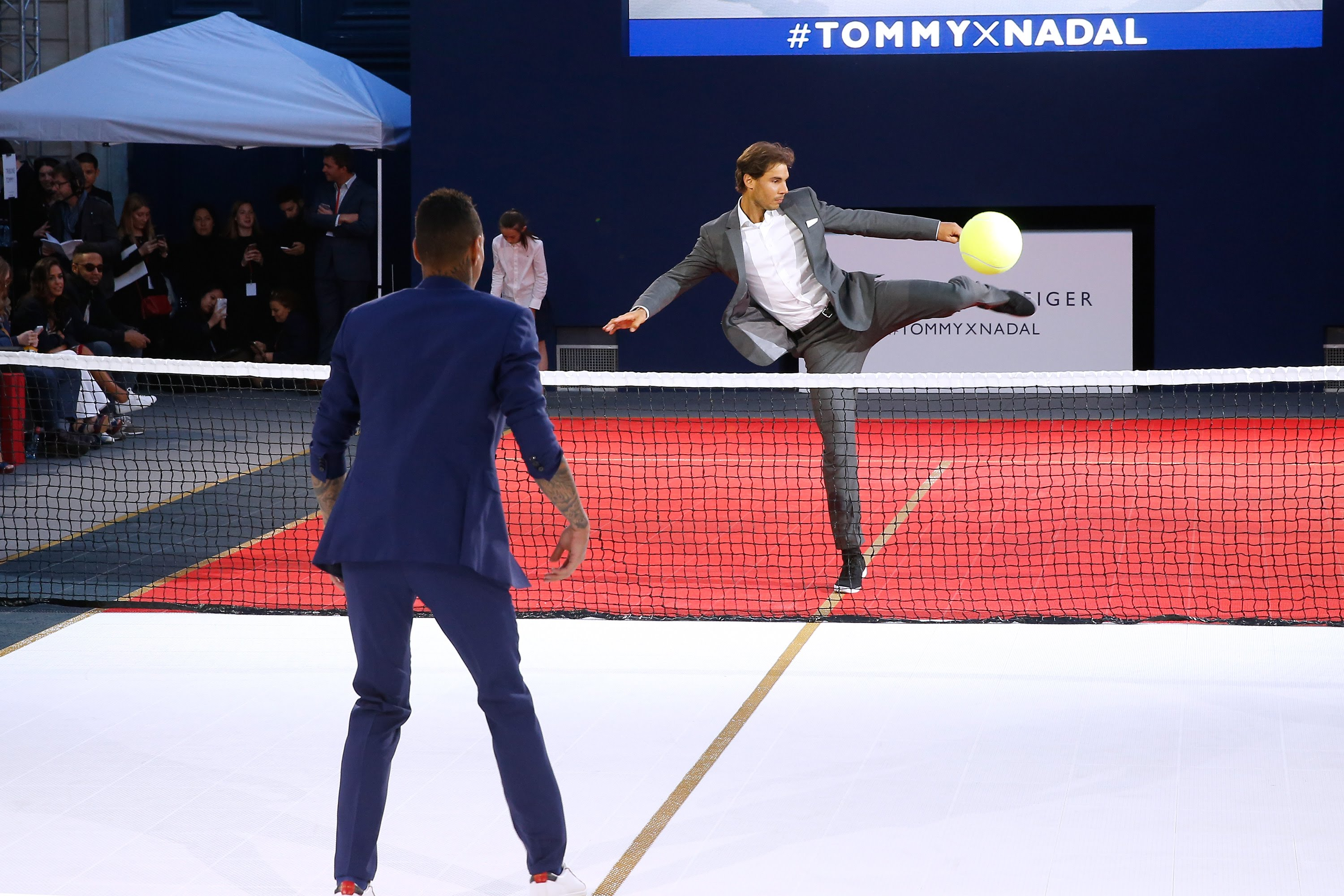 Rafael Nadal And Gregory Vander Wiel Meet On Tennis Court For Tommy Hilfiger #TommyxNadal Event