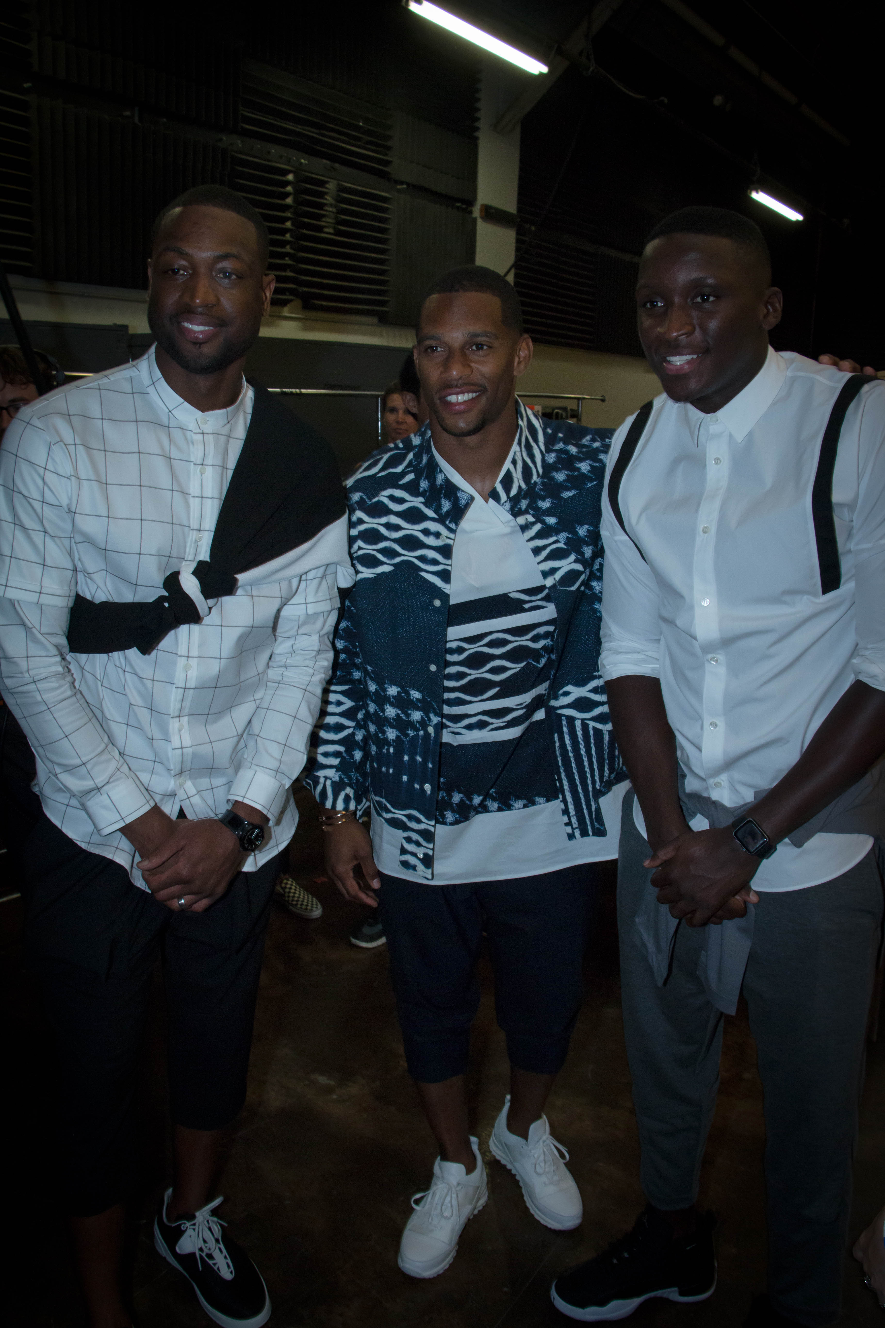 Dwyane Wade, Victor Cruz, And Victor Oladipo Attend Public School NYC Spring/Summer 2017 Fashion Show
