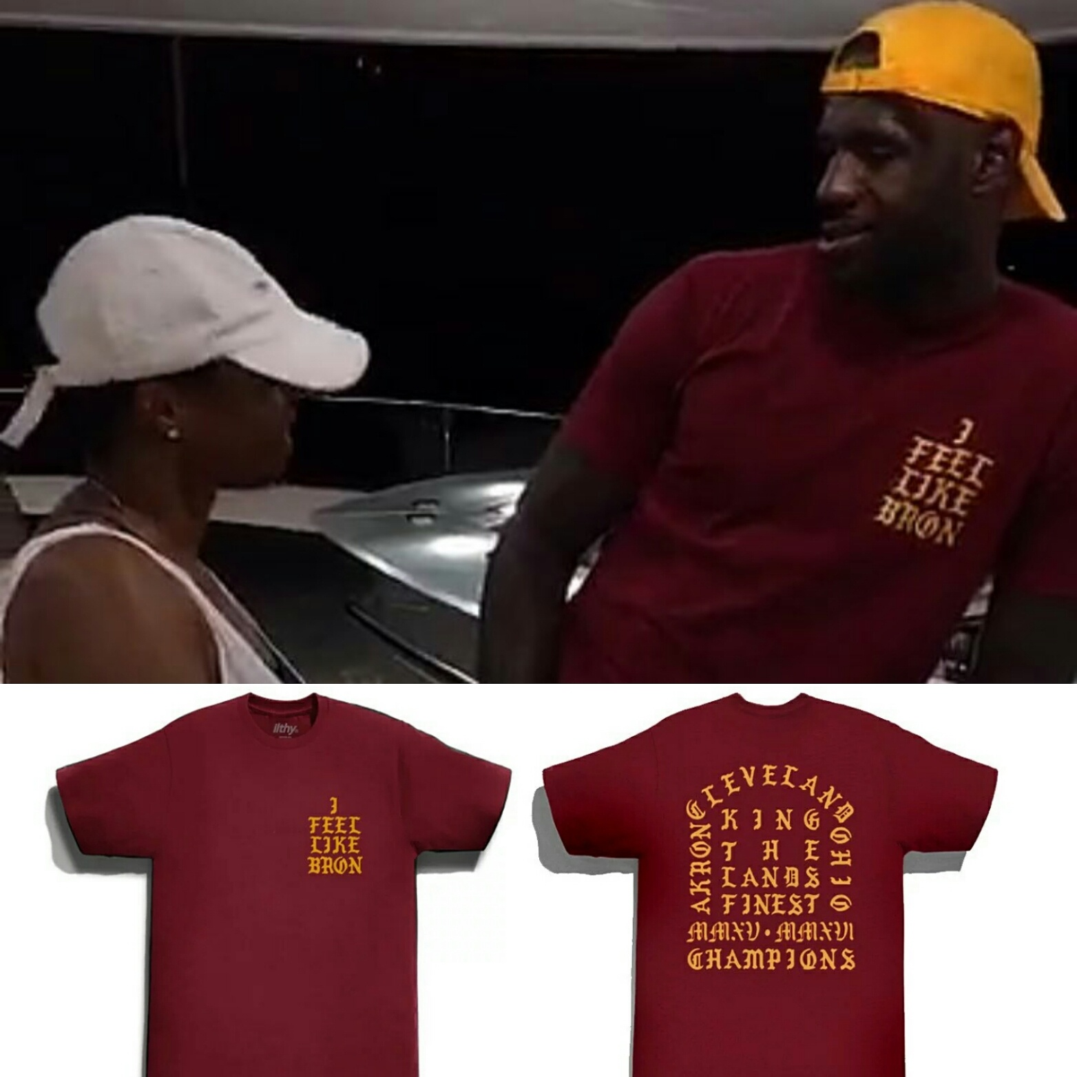 "NBA Champ Lebron James Wears ""I Feel Like Bron"" T-shirt"
