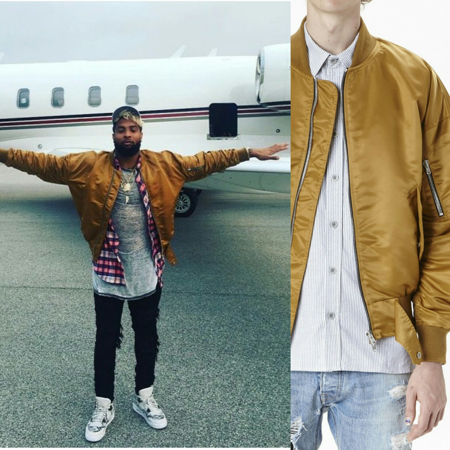 STYLE: Odell Beckham Jr's Instagram Fear Of God Bomber Jacket