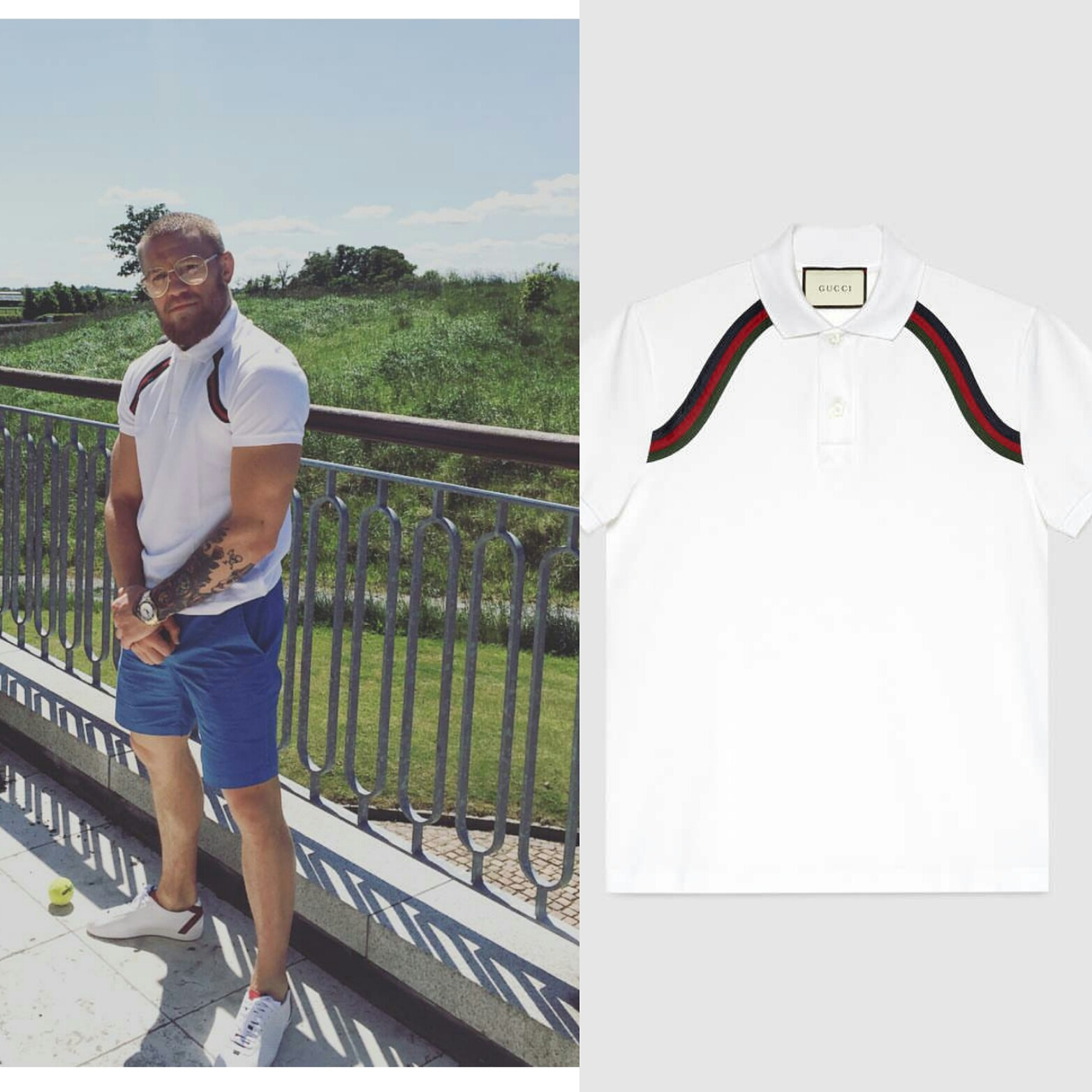STYLE: UFC Conor McGregor's Instagram Gucci Cotton Polo And Gucci Sneakers