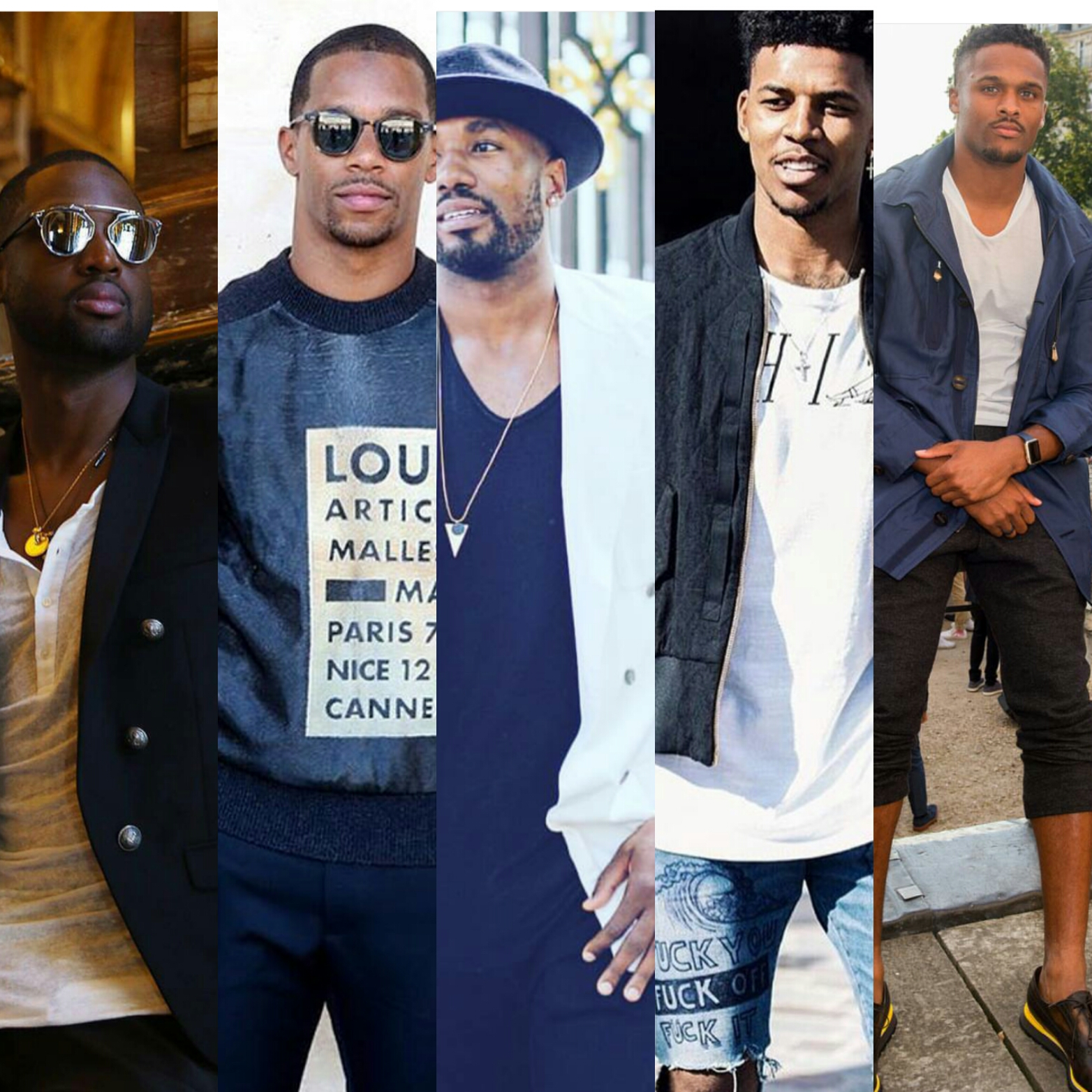 Star Athletes Dwyane Wade, Victor Cruz, Nick Young, Serge Ibaka & Brice Butler Takeover Paris Fashion Week