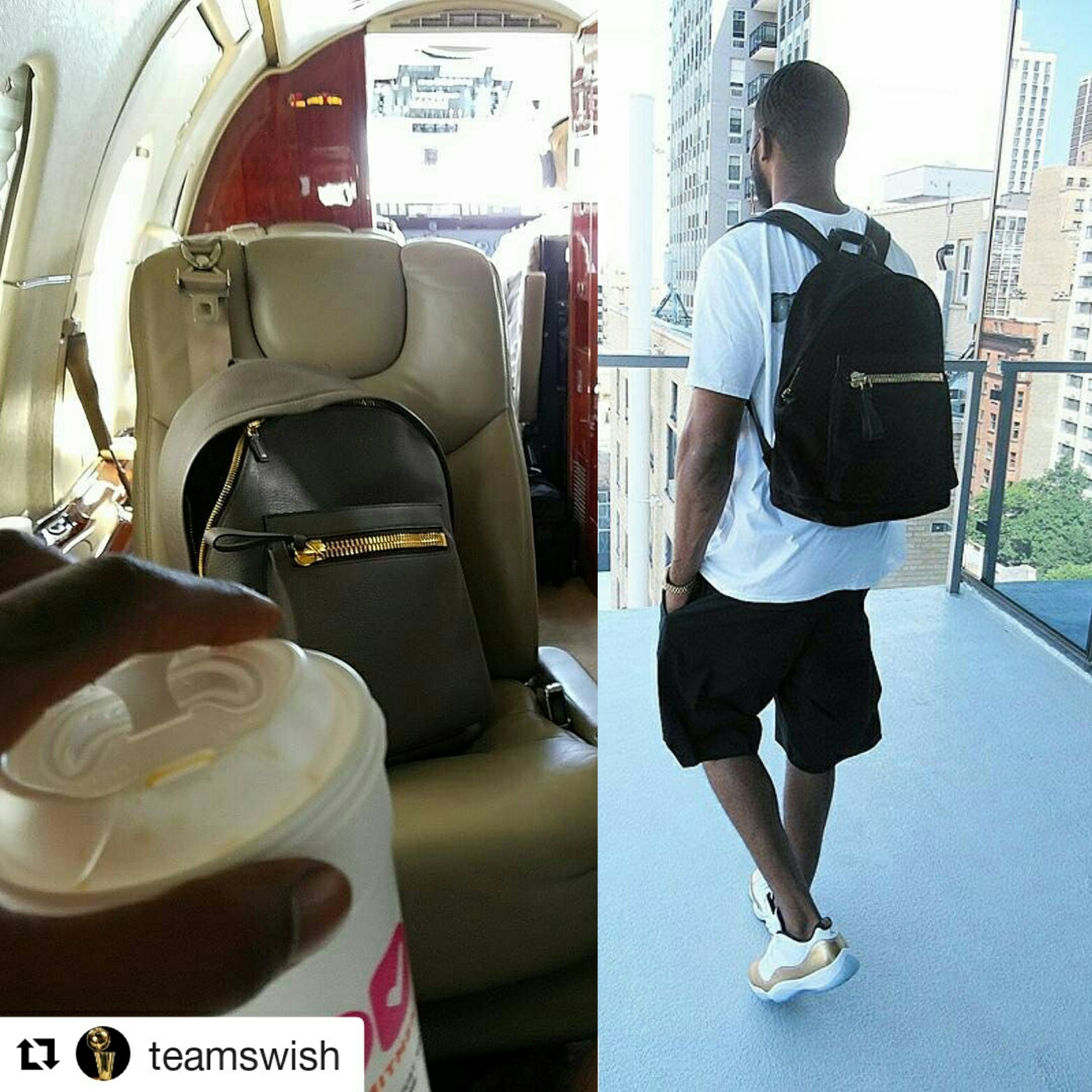 STYLE: Athletes J.R. Smith And Dexter Fowler's Instagram Tom Ford 'Buckley' Zip-Pocket Backpack