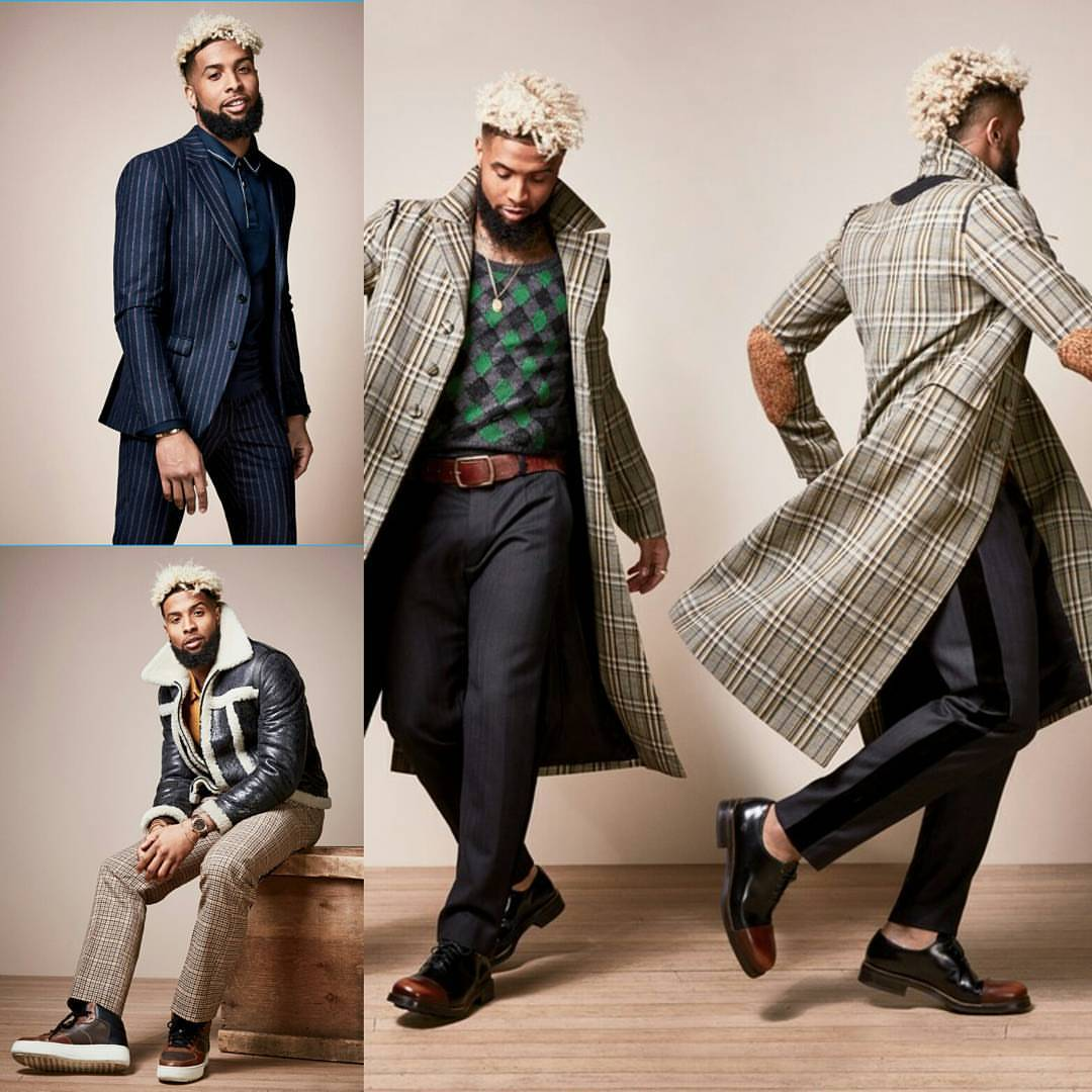 STYLE: Odell Beckham Jr. For GQ Magazine: Models Fall Fashion Looks And Talks House-Sitting For Rapper Drake