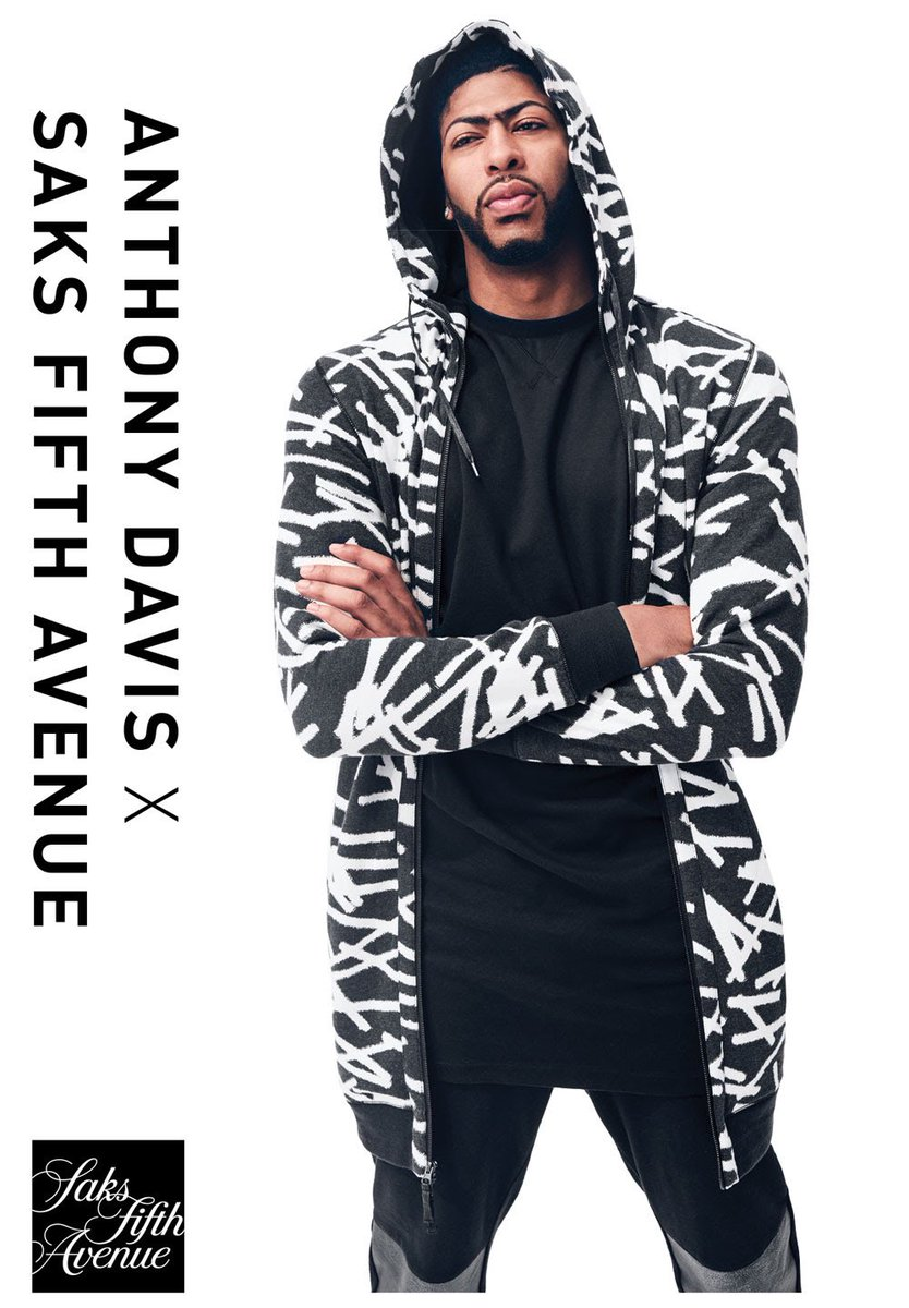 STYLE: NBA star Anthony Davis Debuts His Limited-Edition Saks Fifth Avenue x Anthony Davis Capsule Collection