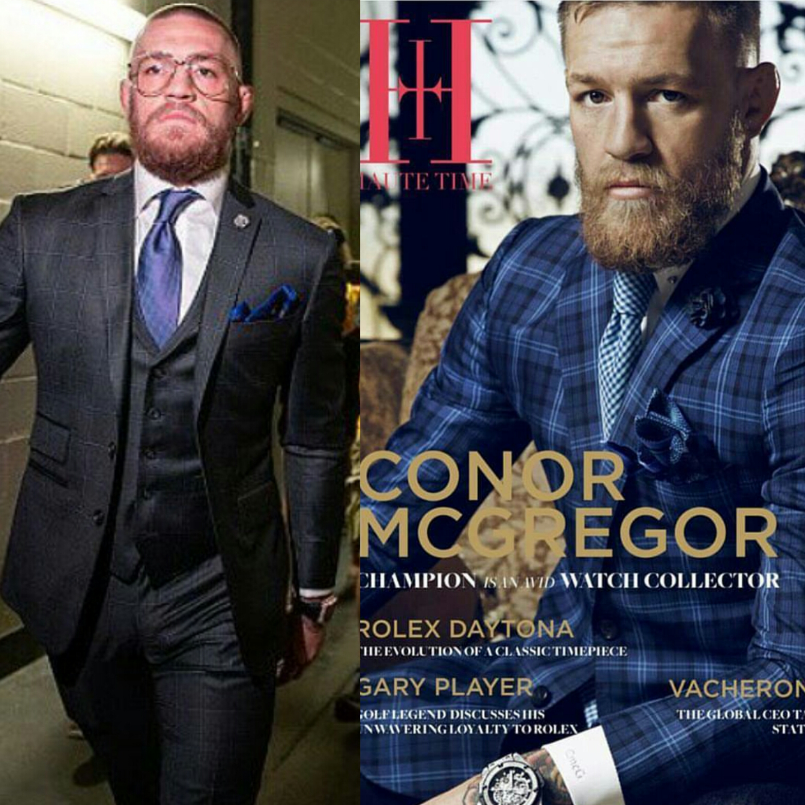 STYLE: Conor McGregor Wears Custom David August Suits For Nate Diaz Fight UFC 202 & Haute Magazine Cover
