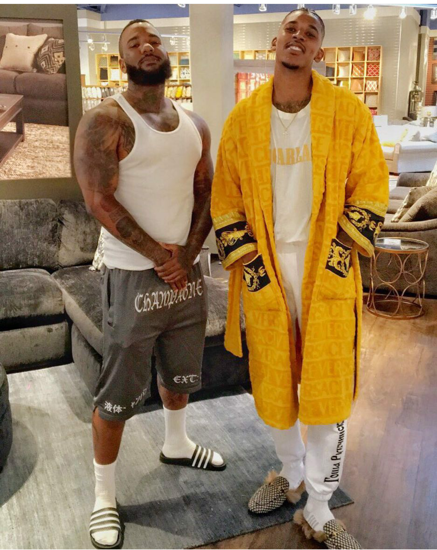 STYLE: Nick Young's Instagram Versace Bathrobe And Gucci