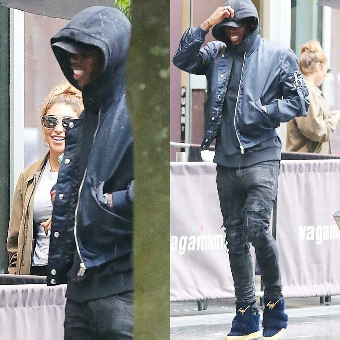 STYLE: Paul Pogba's Alpha Industries Jacket, Mike Amiri Jeans And Giuseppe Zanotti Puff-Strap Sneakers