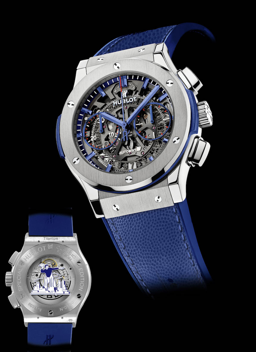 Victor Cruz Co-Designs Hublot's Classic Fusion Aerofusion Limited New York Edition Watch Inspired By The New York Giants Football Team