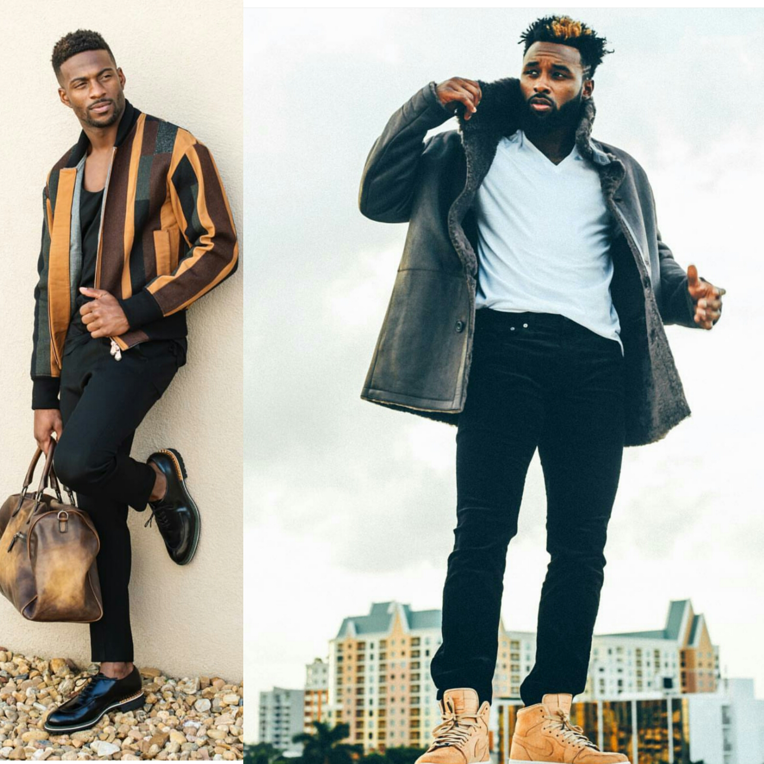 STYLE: NFL Emmanuel Sanders & Jarvis Landry Model Fall Style For GQ x Neiman Marcus Feature