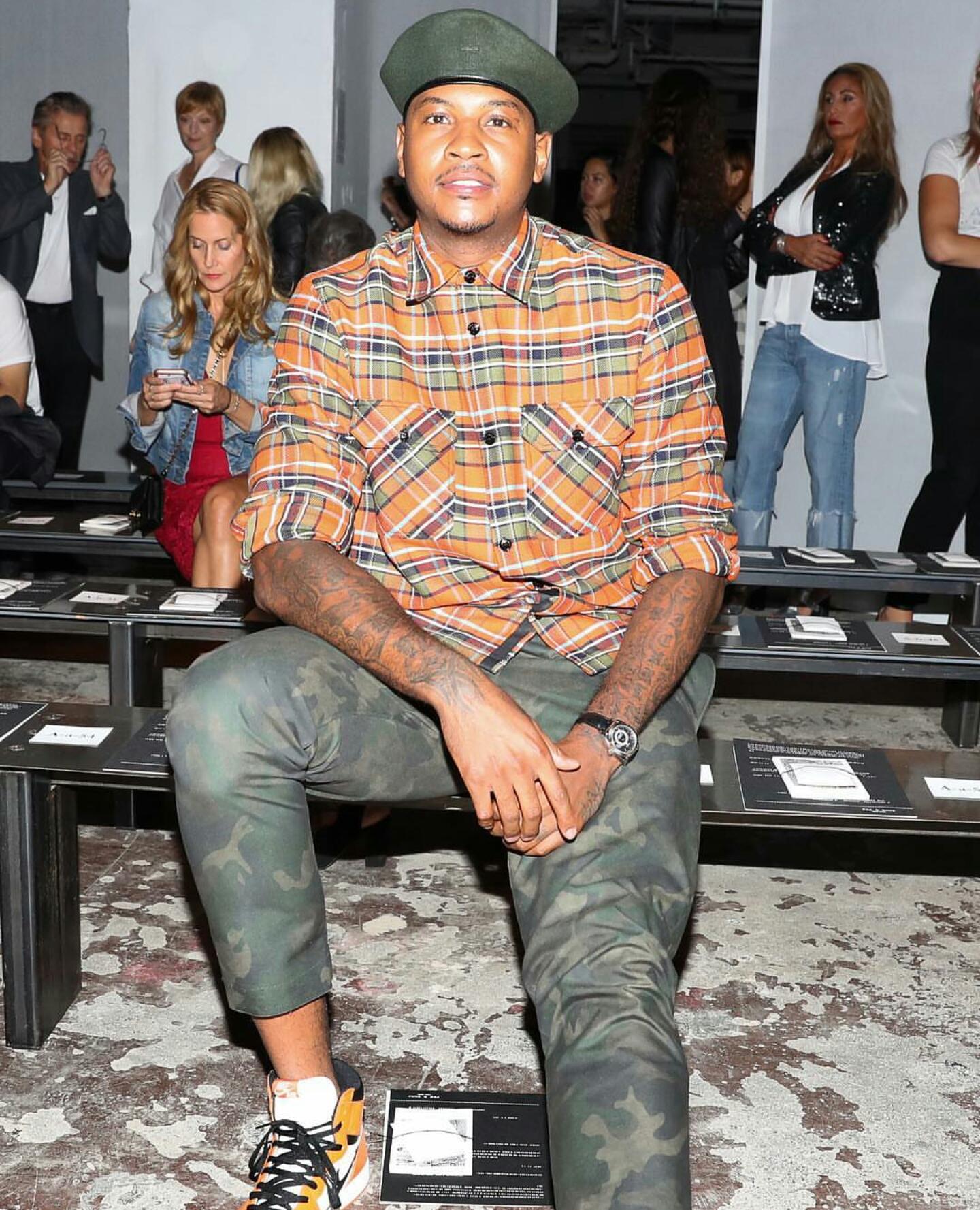 STYLE: Carmelo Anthony Attends Rag & Bone's New York Fashion Week SS'17 Presentation