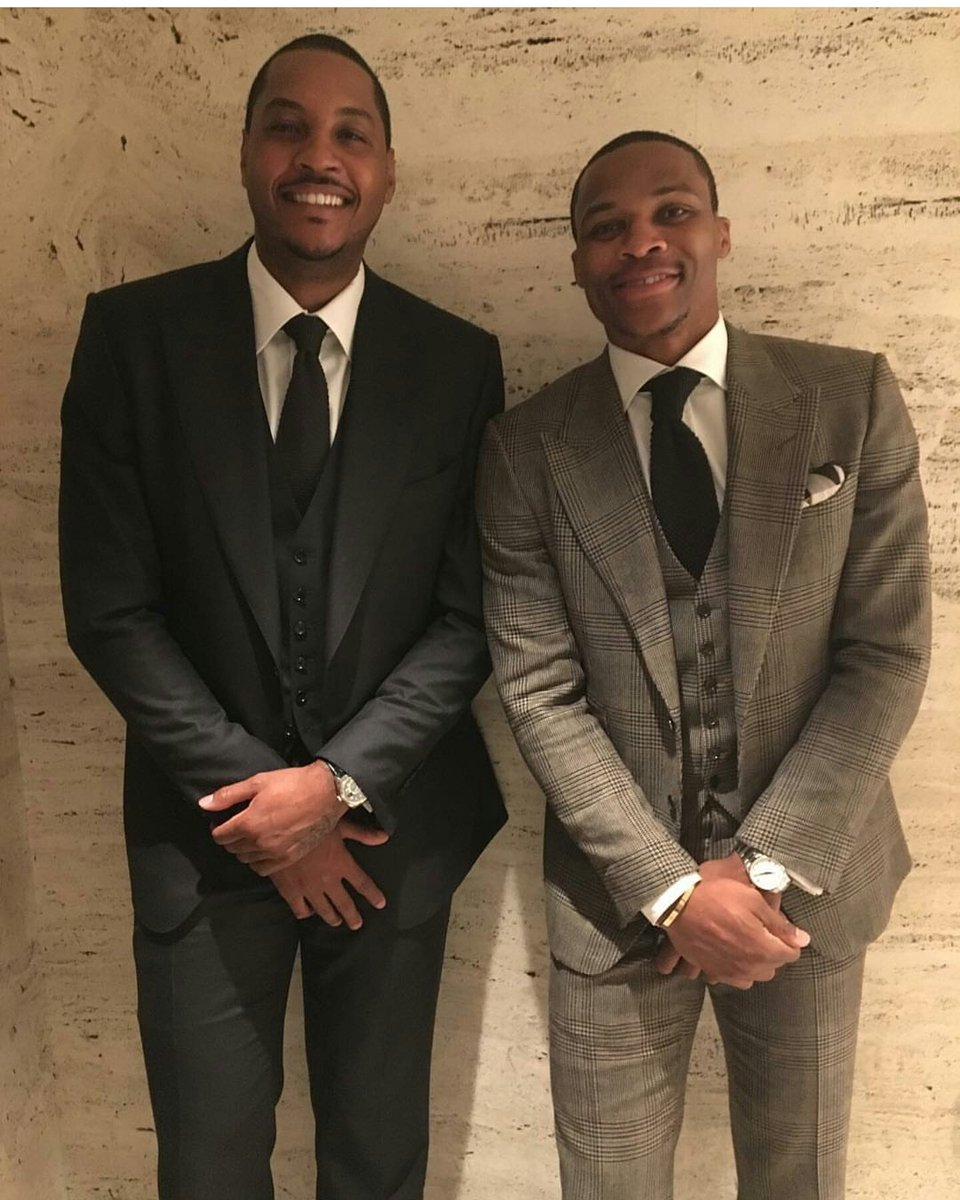 STYLE: Carmelo Anthony & Russell Westbrook Attends Tom Ford's AW'16 New York Fashion Week Presentation