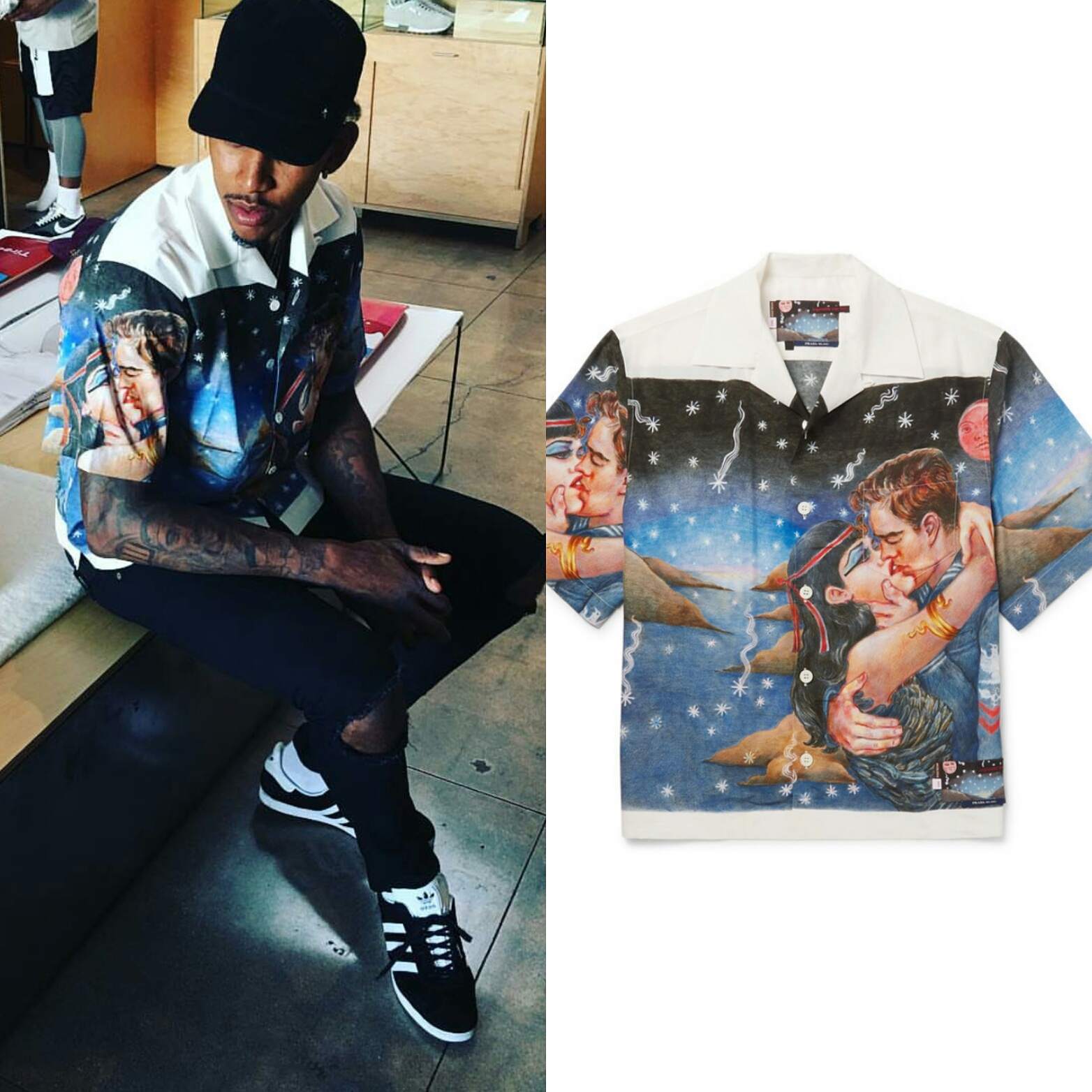 "STYLE: Nick Young Wears $1K Prada ""Impossible True Love"" Collar Shirt"