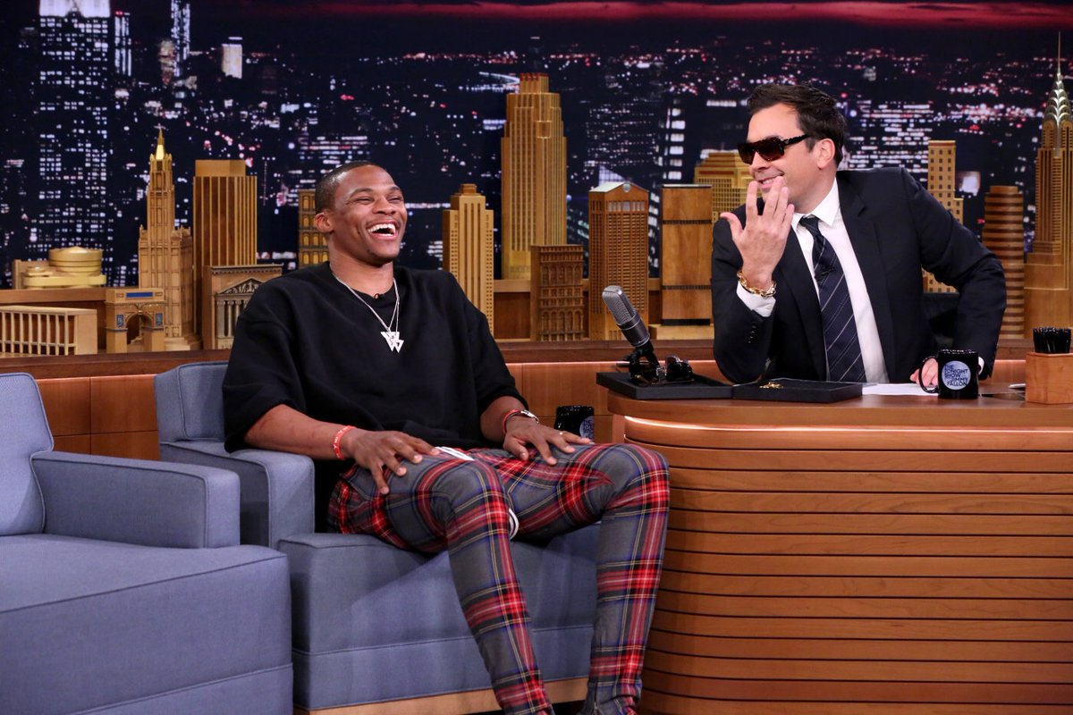 Russell Westbrook Visits Jimmy Fallon Show: Talks Fashion, Basketball & More