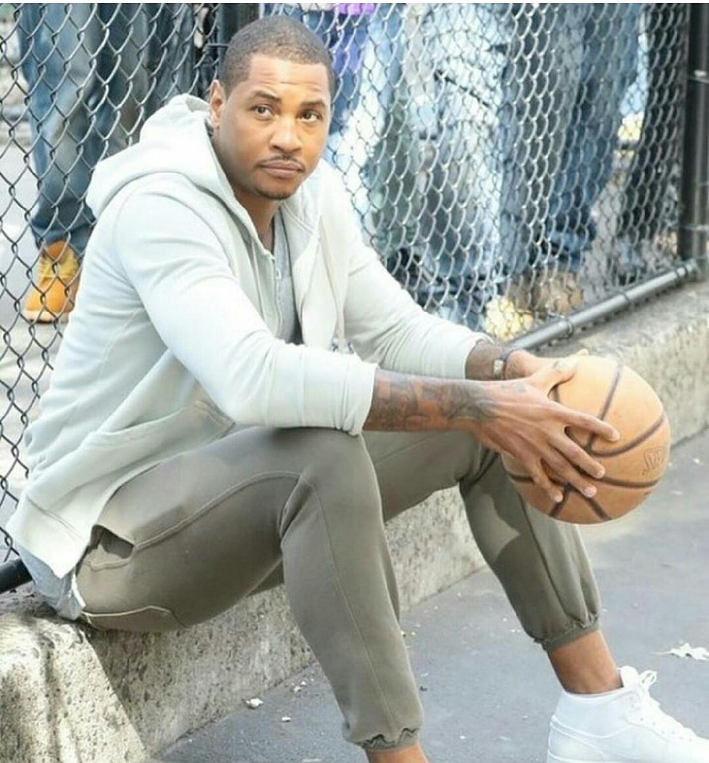 Carmelo Anthony's SOHO NYC Commercial John Elliott Tank & Raw Edge Sweatpants