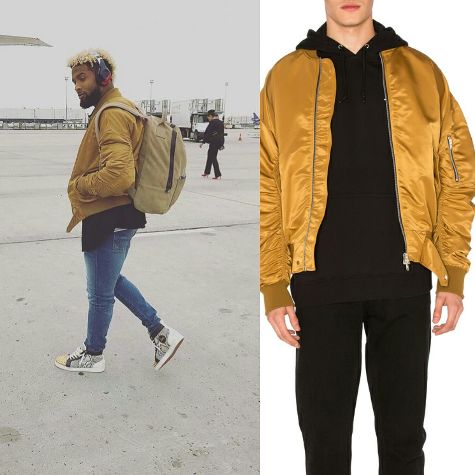 STYLE: Odell Beckham Jr Vs. Vikings Fear Of God Nylon Bomber Jacket And Christian Louboutin Sneakers