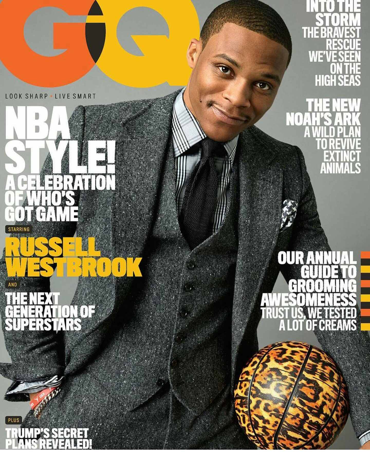 Russell Westbrook Covers GQ Fashion Magazine November 2016