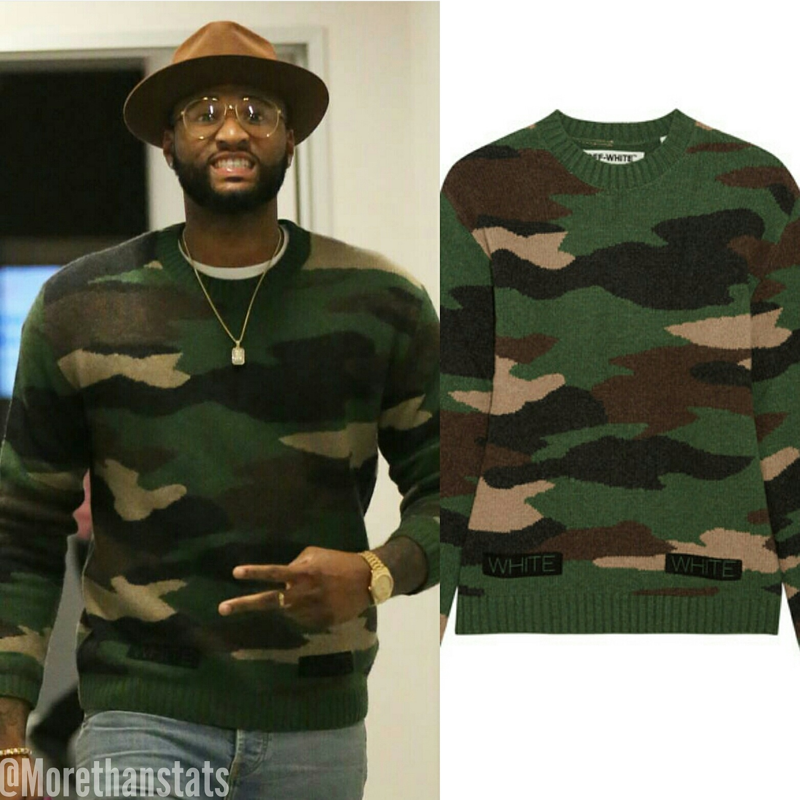 STYLE: Demarcus Cousins' Instagram Off White Mens Camouflage Sweater
