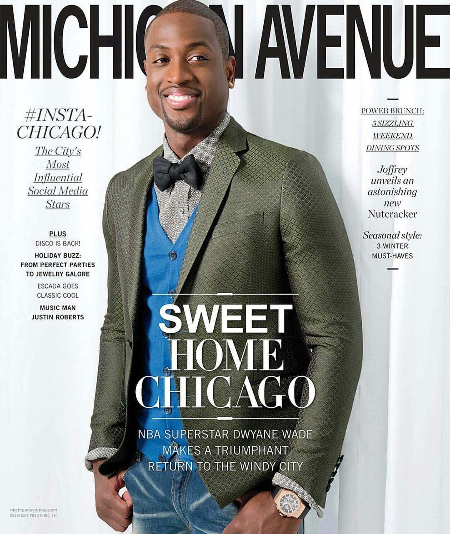 Dwayne Wade Opens Up About Chicago Bulls Move And More In Interview with Michigan Avenue Magazine