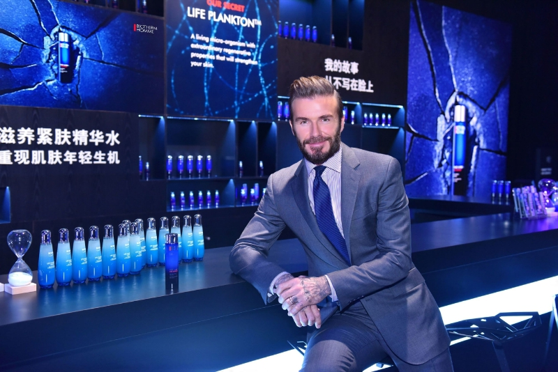 David Beckham Helps Biotherm Homme  Debut New Mens Skincare Range