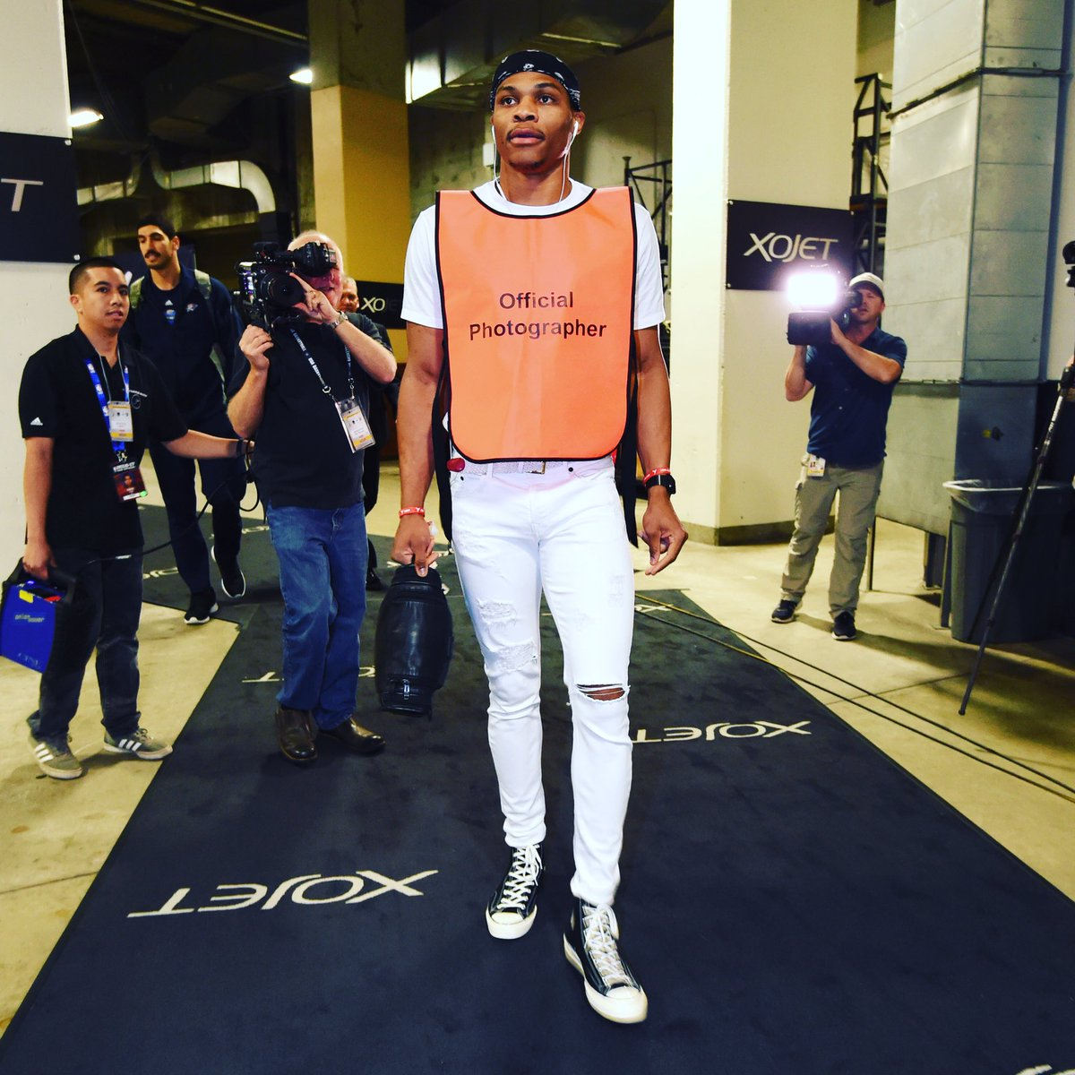 "STYLE: Russell Westbrook's Latest Fashion Statement Is An ""Official Photographer"" Vest"