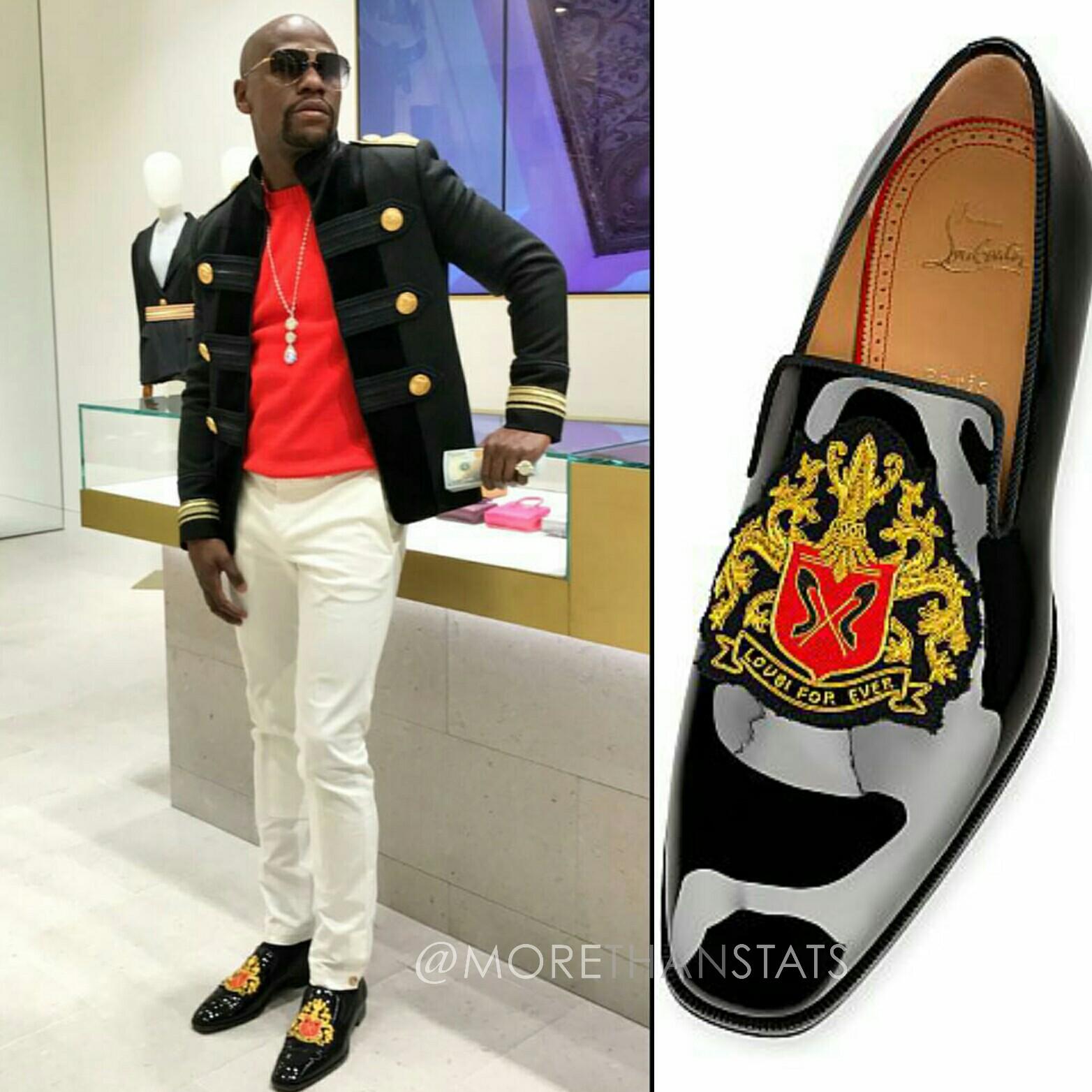 STYLE FOR MEN: Floyd Mayweather Wears Christian Louboutin Loubiforever flat sneakers