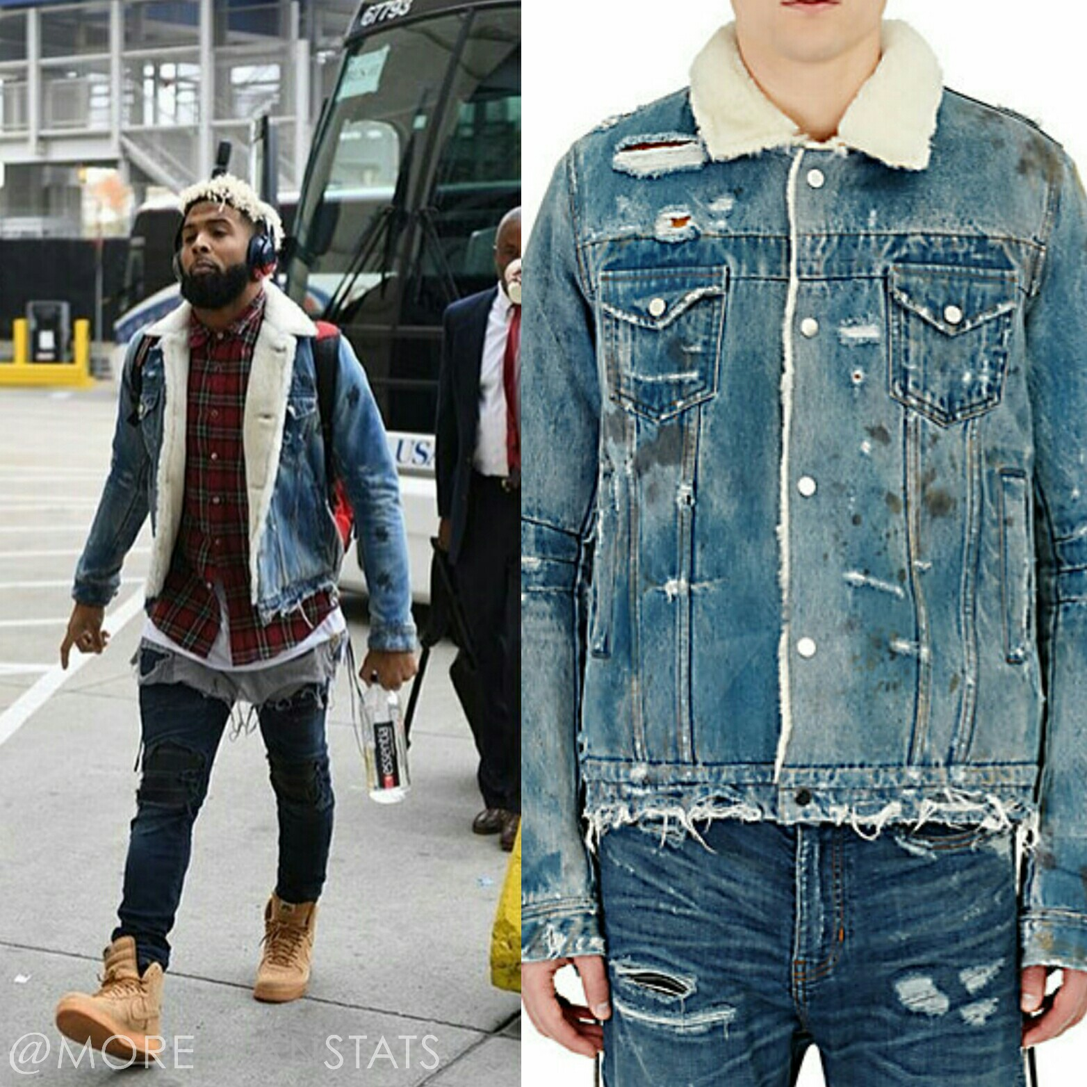STYLE: NFL Odell Beckham Jr's Amiri Mens Fashion Jacket