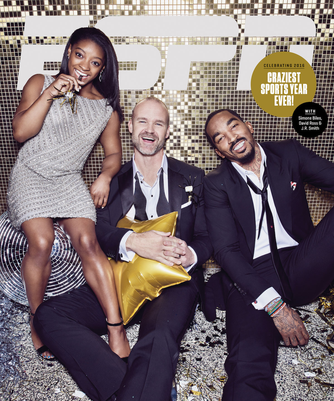 J.R. Smith, Simone Biles, & David Ross Covers ESPN The Magazine In STYLE
