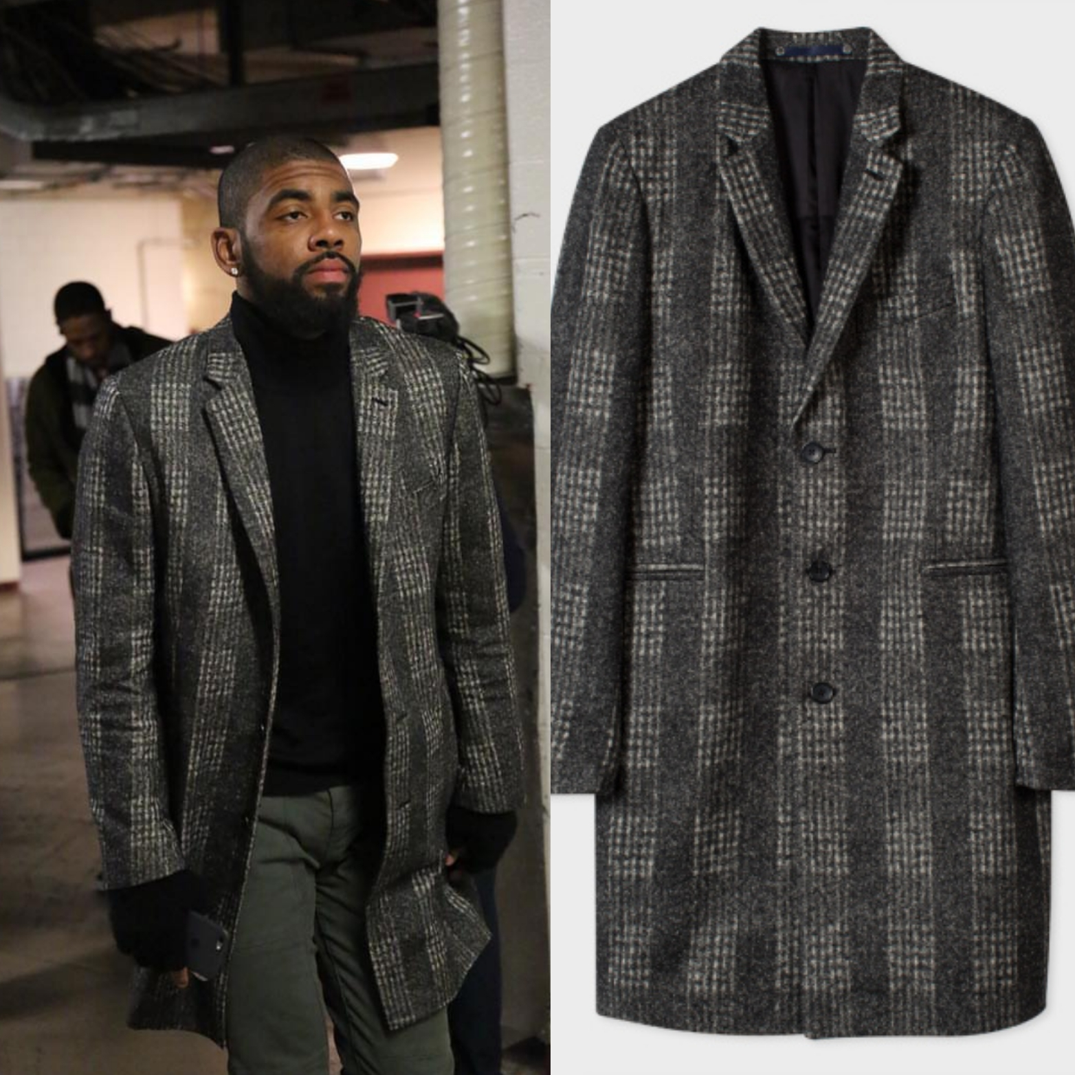 STYLE: NBA Kyrie Irving's Paul Smith Mens Fashion Jacket