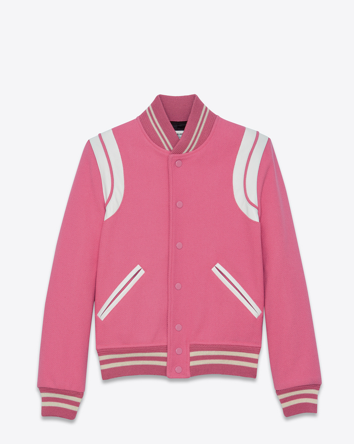 mens-saint-laurent-pink-varsity-jacket