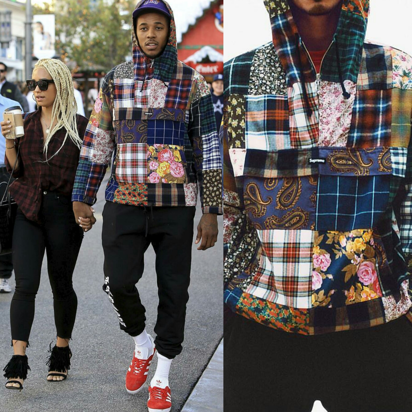 STYLE: Nick Young's Supreme New York Patchwork Pullover