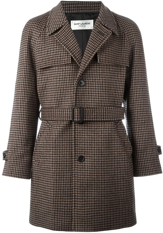 saint-laurent-houndstooth-belted-coat