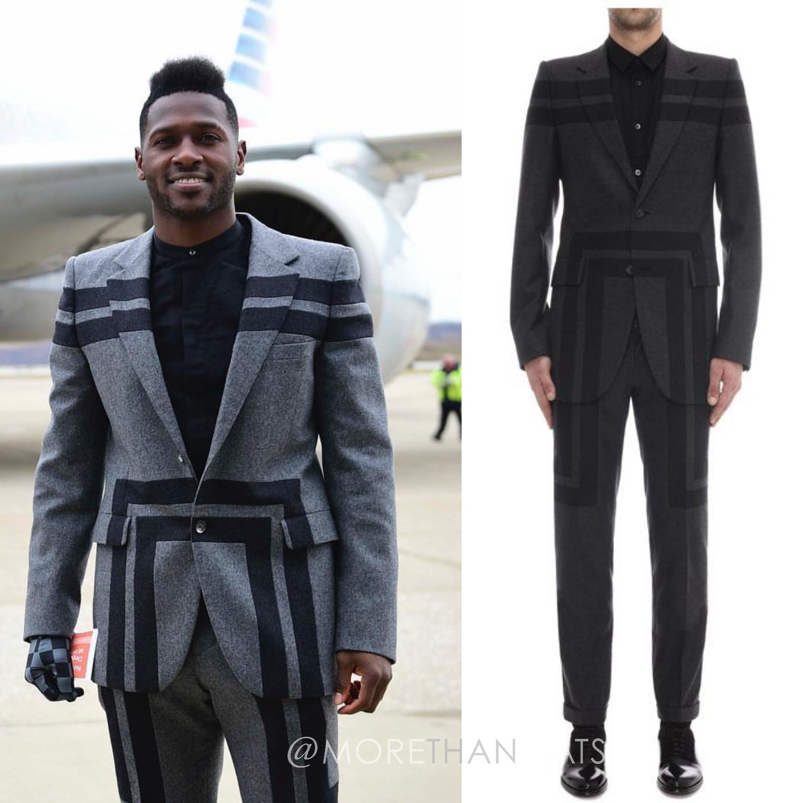 Antonio Brown's Alexander Mcqueen F/W '14 Geometric Print Mens Fashion Suit
