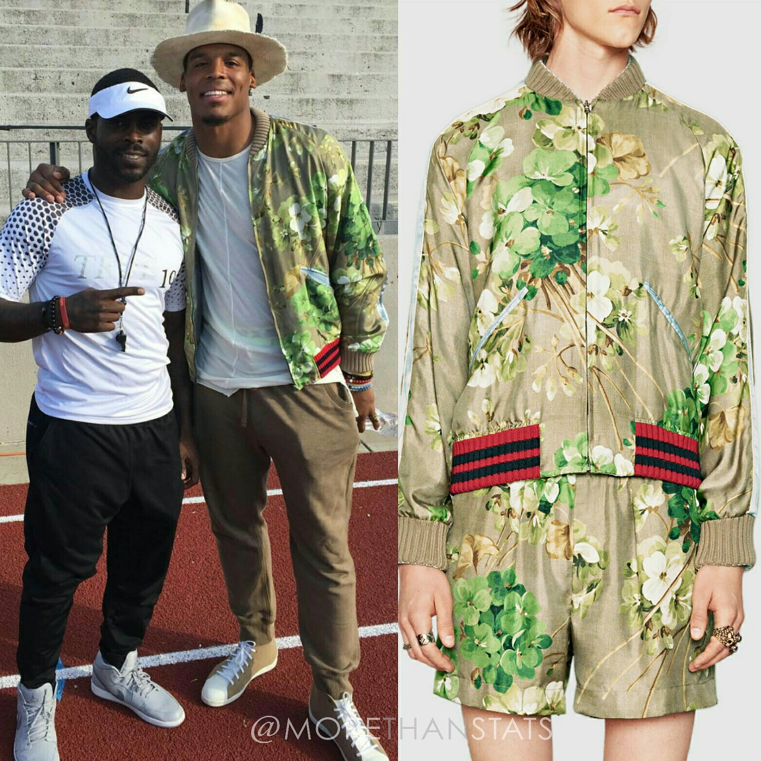 e48b02de Cam Newton's Gucci Blooms Print Mens Fashion Jacket